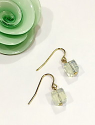 Non Stone Earrings Set Jewelry Daily Casual Alloy Glass 1 pair White Yellow