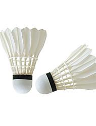 Ein Paar Badminton Federbälle aus echten Federn Wasserdicht Langlebig Hochelastisch für Gänsefeder