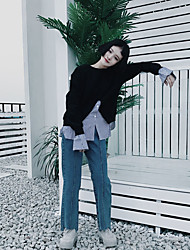 Iraq cool real shot fake two sweater female Korean student hedging blouses