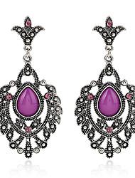 Diamond Opal Stud Earrings Drop Earrings Earrings Jewelry Women Party Crystal Alloy 1 pair Silver