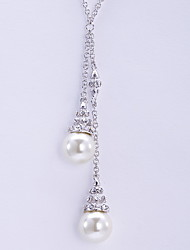Pendant Necklaces Crystal Imitation Pearl Imitation Pearl Basic Dangling Style Fashion Silver Jewelry Daily Casual 1pc