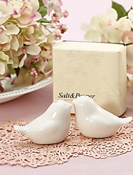 1Set Love Birds Ceramic Salt & Pepper Shakers Wedding Favor Beter Gifts® Wedding Favours