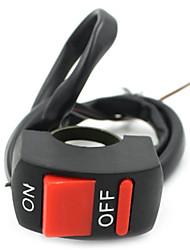 Motorrad Flash-Scheinwerferschalter Lichter Zweidraht-Schalter Zigarette Schalter leichter mit Schalter mit 3 Kabel / für Motorrad /