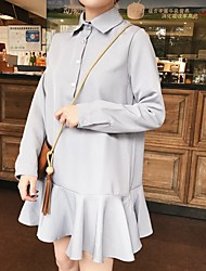 Sinal 2 modelos primavera camisa da cor saia com babados