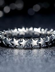 Ringe Sternenform Modisch individualisiert Alltag Normal Schmuck Ring 1 Stück,12 14 16.0 18 Silber