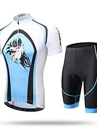 XINTOWN® Blue Eagle Men's Short Sleeves Cycling Jerseys Blue Eagle Jacket Shirts Clothes Xintown Summer Cycling T Shirt Shorts Set