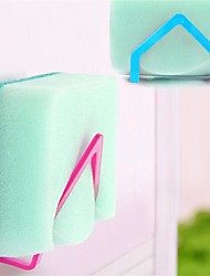 2pcs novos panos de prato qualificados rack de sucção titular esponja clipe pano rack de armazenamento de cor aleatória