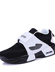 le confort des chaussures de sport printemps été automne hiver pu extérieur athlétique décontracté blanc rouge / blanc noir marche à