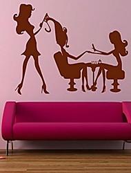 Cartoon Beauty Salons Wall Sticker Vinyl Material Home Decoration