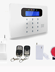kabellos& verdrahtet Touch-Tastatur LCD-Display-Home-Security-GSM-Alarmanlage