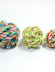 Cat Toy Dog Toy Pet Toys Ball Chew Toy Interactive Teeth Cleaning Toy Durable Elastic Candy Cat Nobbly Wobbly Woven HalloweenTextile