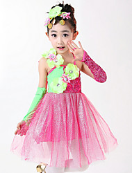 Shall We Ballet Dresses Child Splicing 2 Pieces Dress Headpieces