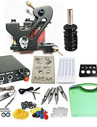 Starter Tattoo-Kits 1 x-Legierung Tattoo Maschine für Futter und Schattierung Mini Stromversorgung 10 x Tattoonadeln RL 3 Komplett-Set
