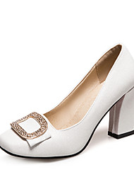 Heels Spring Fall Club Shoes Leatherette Wedding Party & Evening Dress Chunky Heel Bowknot