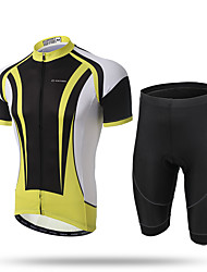 XINTOWN® Men's Short Sleeves Full-Zip Bike Jersey Cycling Clothing Jersey Shorts With 3D Padded