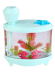 Mini Aquarium Fish Tank LED Colorful Light Humidifier USB