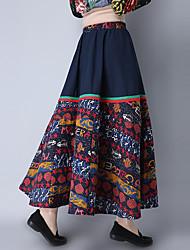 unterzeichnen neue 2017 neue Frauen&# 39; s nationale Wind Retro Baumwolltuch Stitching Rockkleid