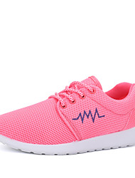 Women's Sneakers Spring Couple Shoes PU Outdoor Office & Career Casual Athletic Flat Heel Lace-up White Black Pink Other