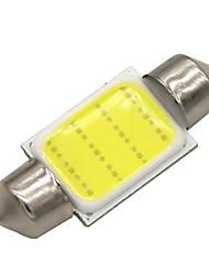10x 36mm 3W COB светодиодный 200LM 6000K холодный белый свет купола гирлянда настольная лампа лампы для автомобиля (12 В постоянного тока)