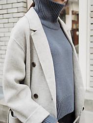 exclusif nouvel hiver gris-bleu maison à col roulé