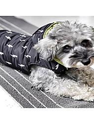 Dog Coat Blue Dog Clothes Winter Flower Sports