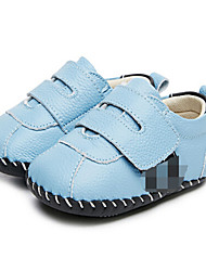Girls' Baby Flats First Walkers Leatherette Summer Casual Outdoor Walking First Walkers Magic Tape Low Heel White Light Blue Flat