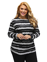 Women's Embellished Tie-Dye Stripe Plus Size Top