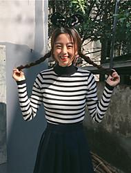 segno neve primavera era di moda sottili strisce classico a maniche lunghe maglione pullover