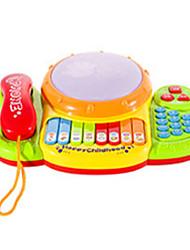 Telefones de Brinquedo Brinquedos Clássicos & Retrô Quadrangular Plástico Arco-Íris 5 a 7 Anos 8 a 13 Anos