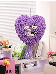 Bridal Wedding Room Layout Decoration Wedding Wedding Bouquet Bear Pendant Peach Flower Simulation