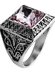 Ring Daily Casual Jewelry Crystal Alloy Ring 1pc,8 9 10 11 Pink