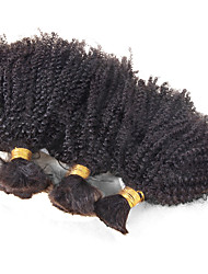 Afro Kinky Curly Human Braiding Hair Bulk 3Pcs/Lot Brazilian Virgin Hair Afro Kinky Curly Bulk For Braiding Crochet Braids