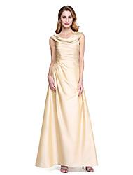 Trapèze Drapé Longueur Sol Taffetas Robe de Mère de Mariée  - Plissé par LAN TING BRIDE®