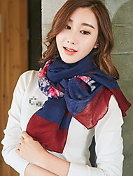 New Korean Version Of Cotton And Linen Love Pattern Scarves