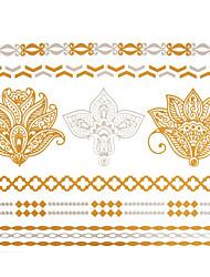 Séries de Jóias Tatuagem Adesiva - Waterproof - para Feminino/Girl/Masculino/Adulto/Boy/Adolescente - de Papel 15x11.5x0.05CM 1