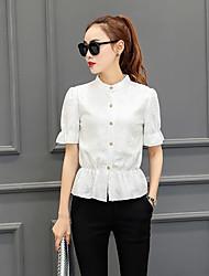 assinar influxo de nova primavera de 2017 mulheres&# 39; rendas camisa blusa s camisa pequena camisa de renda feminina de manga