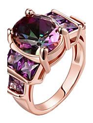 Anéis Diário Jóias Aço Anel 1peça,8 9 10 Dourado Ouro Rose