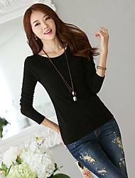 New Korean wild Slim bottoming solid black wool sweater thin sweater T-shirt