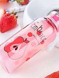 Transparent Drinkware, 380 ml Decoration Glass Tea Coffee Water Bottle