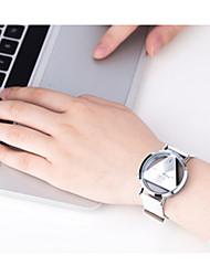 Women's Sport Watch Digital Watch / Quartz Digital Leather Band Vintage Black White Silver Strap Watch