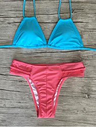 Bikinis Aux femmes Fleur Rubans Polyester