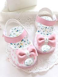 Baby Flache Schuhe Lauflern Andere Tierhaut Sommer Normal Walking Lauflern Klettverschluss Niedriger Absatz Fuchsia Blau Rosa Flach
