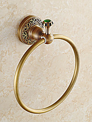 European Style Solid Brass with Jade Bathroom Shelf Bathroom Towel Rings Bathroom Accessories