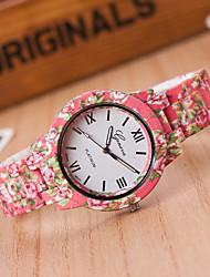 Fashion Watch Quartz Alloy Band Blue Red