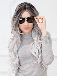 meilleure vente attrayante perruque synthétique coiffure longue vague ombre pour les femmes 2017