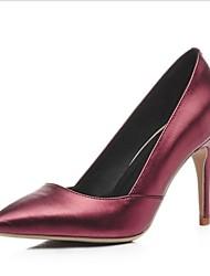Damen-High Heels-Kleid-LederAndere-Schwarz Rot