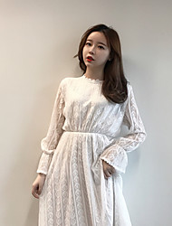 Sign new women's fashion bottoming dress temperament long-sleeved dress and long sections Slim