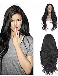 2017 Sylvia Synthetic Lace Front Wig Black Straight Heat Resistant Free Wig Net  Synthetic Wigs