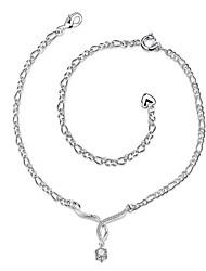 Bracelet de cheville/Bracelet Alliage Zircon Plaqué argent Imitation de diamantNaturel Amitié Mode Vintage Bohême Style Punk Hip-Hop Turc