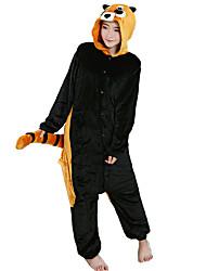 kigurumi Pyjamas Raton laveur Collant/Combinaison Fête / Célébration Pyjamas Animale Halloween Noir Flanelle Costumes de Cosplay Pour